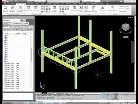 AutoCAD Structural Detailing - Steel Fabrication Drawings.wmv