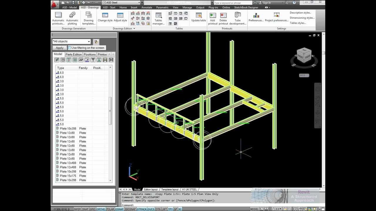 2d Drafting And Detailing : Autocad structural detailing steel fabrication drawings.wmv youtube