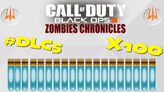 BLACK OPS 3 ZOMBIES - 100 LIQUID DIVINIUM LIVE OPENING + NEW DLC 5 ZOMBIES CHRONICLES PS4 THEME!