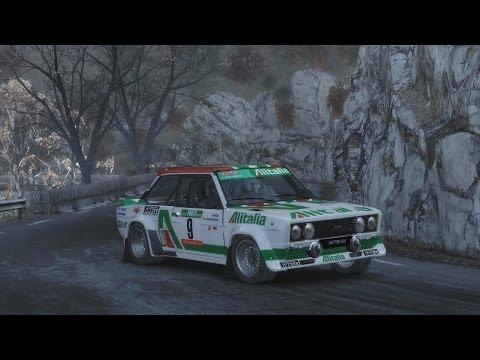 Dirt Rally - Fiat 131 Abarth - Monaco, Gordolon - Courte montée (delta daily)