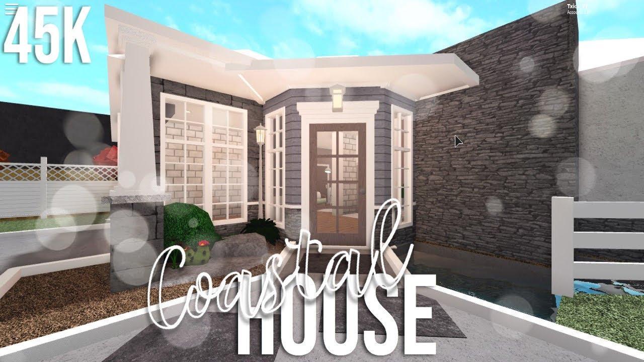 Roblox Bloxburg House 45k Tutorial 1 Story Roblox Bloxburg Coastal One Story Home 45k Youtube