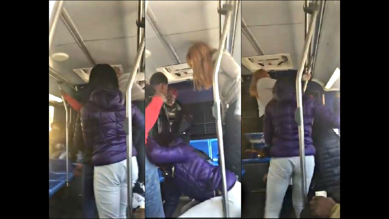 Savagery Teen Girls Assault Old Man On Nyc Mta Bus - Youtube-7627