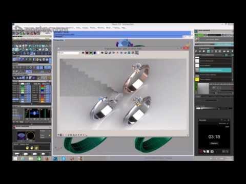 Μονόπετρο Δαχτυλίδι: 3d σχεδιασμός μονόπετρου δαχτυλιδιού K18 με μπριγιάν 0.38ct