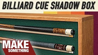 Pool Cue Shadowbox Display | Tribute to Dad