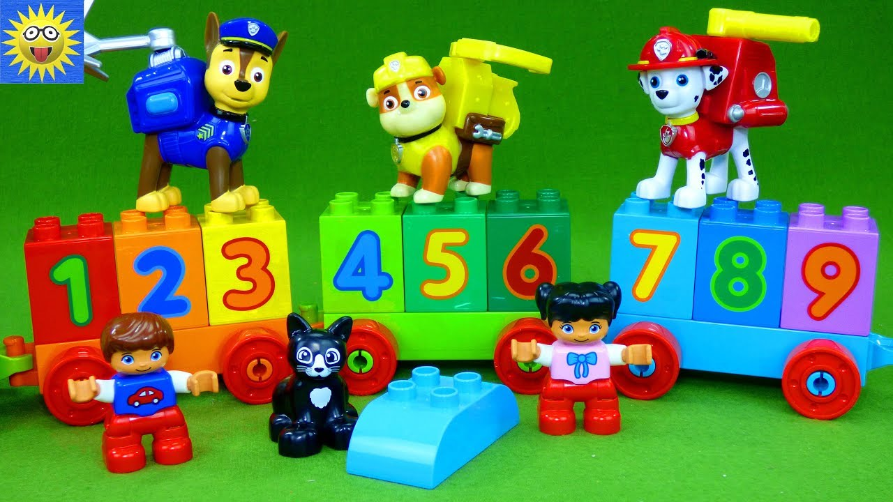 Counting 1 to 10 with the Paw Patrol Toys Lego Duplo ...