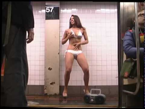 Stripper on the subway
