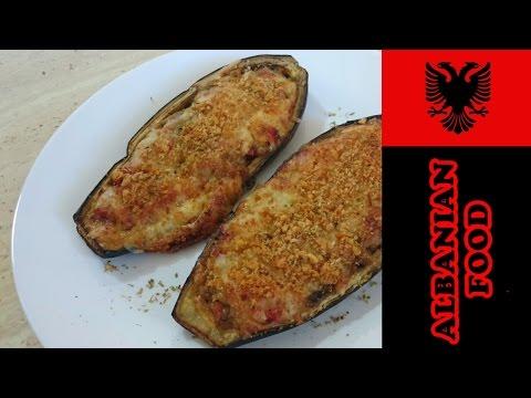 Albanian Stuffed Aubergines Recipe | Patëllxhane Të Mbushur | The Cooking Library