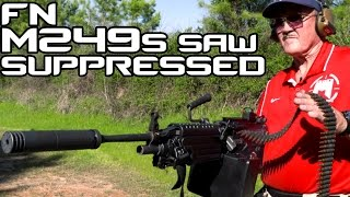 suppressed fn saw m249s with jerry miculek   super slowmo 4k 60p