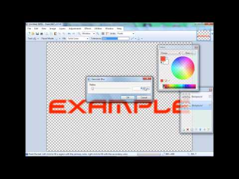 How To Outline Text(Paint.Net)