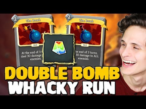 Slay The Spire - Defect Double Bomb Run W/ Prismatic Shard - Very Whacky Run!