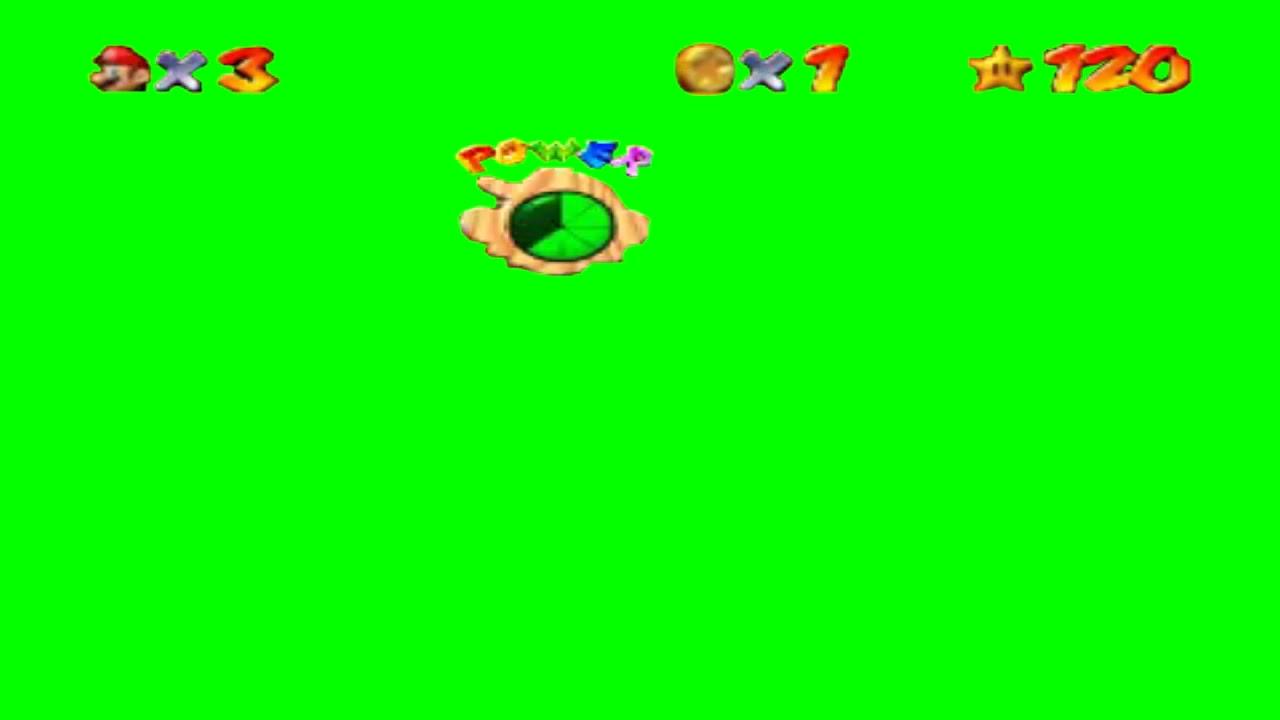 Super Mario 64 Hud Green Screen Free Template Youtube