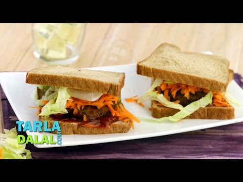 Potato Tikki Sandwich by Tarla Dalal