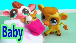 LPS New Baby - Kream's Ice Creamery Littlest Pet Shop Part 12 Hospital Video Series Cookieswirlc