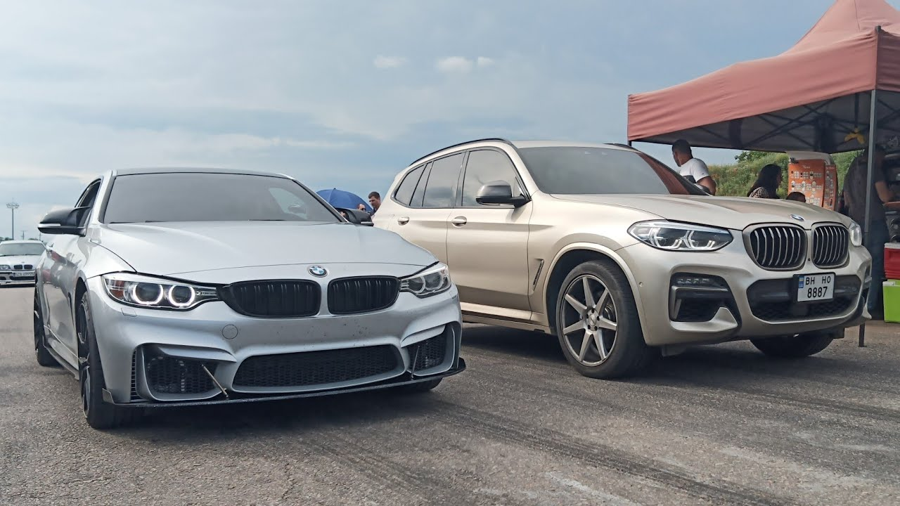 BMW X3 M40i ST1 vs BMW 435 ST 2 vs Golf 2 1.8 T vs Приора Компрессор.