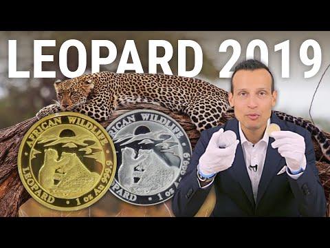 1 Unze Gold und Silber - African Wildlife Somalia Leopard 2019