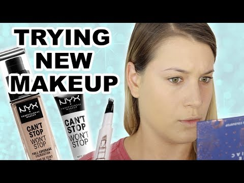 TRYING NEW MAKEUP   FIRST IMPRESSIONS thumbnail