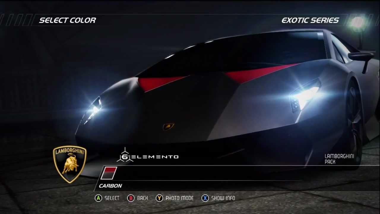 Nfs Hp Racer Exotic Series Lamborghini Sesto Elemento Hd Youtube