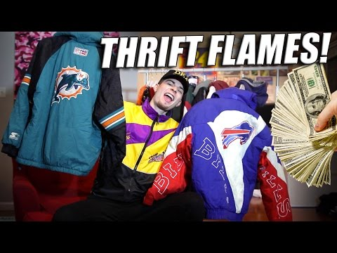 Fire Flame Friday! Polo, Starter, Nautica Huge Haul of Vintage Thrift Heat!
