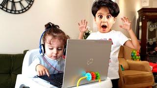 Sado Bebek Bakıcısı Oluyor ve Evde Bebek Bakıyor ! Funny Kids Story about Baby Sitter