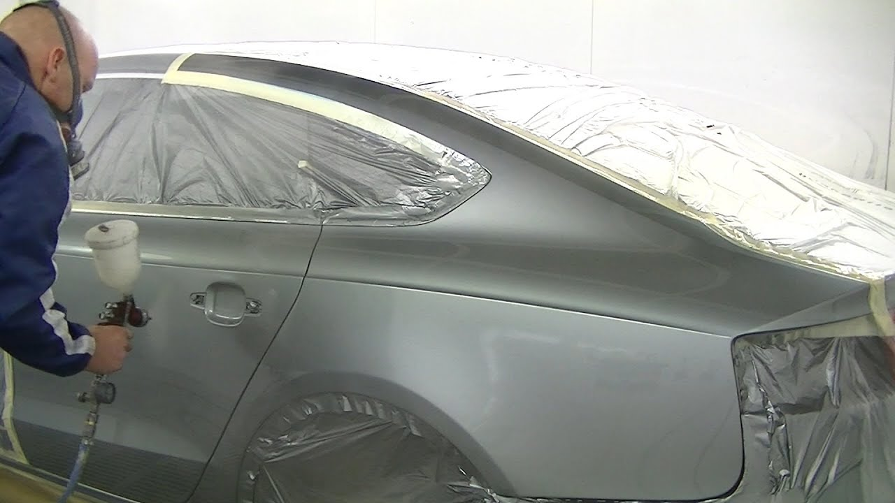 How to paint a car metallic audi a5 youtube for How to make metallic paint