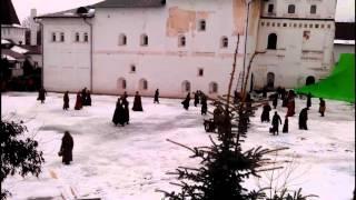 Съемки фильма Иван III и София Палеолог. Пафнутьев Боровский монастырь