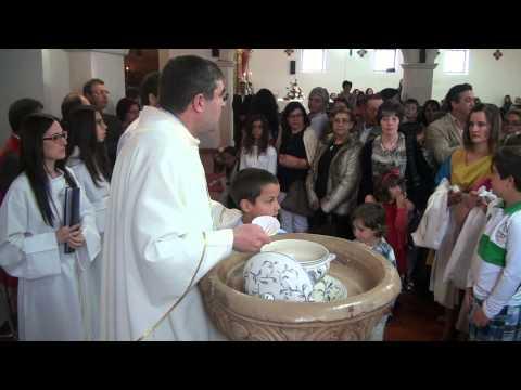 Batismo de cinco catecúmenos na Paróquia de Espinhel