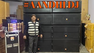 BHARAT ELECTRONICS BEST AANDHI DJ SYSTEM PRICE-350000 (2000+2000)WATT BASS (1000+1000)W TOP