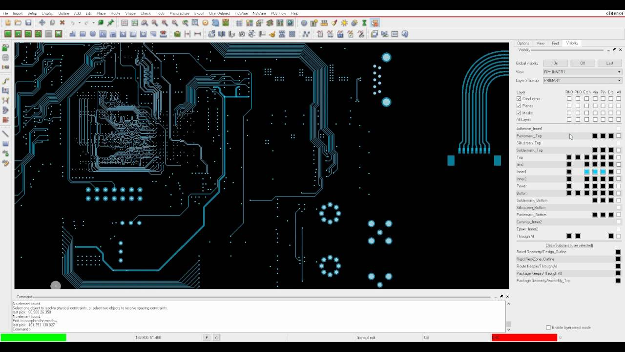 Tutorial OrCAD Allegro Controlling Layer Display