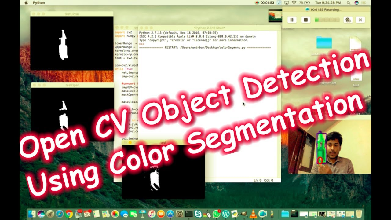 OpenCV Object Tracking by Colour Detection in Python | The