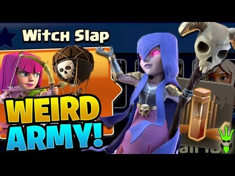 "THIS IS A WEIRD ""WITCH SLAP"" ARMY! - Practice 7-11 - Clash of Clans"