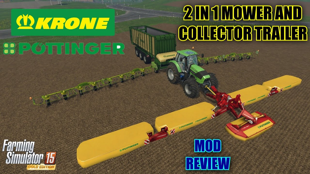 Farming Simulator 2015 - 2 in 1 Mower and Collector Trailer