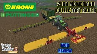 Farming Simulator 2015 - 2 in 1 Mower and Collector Trailer
