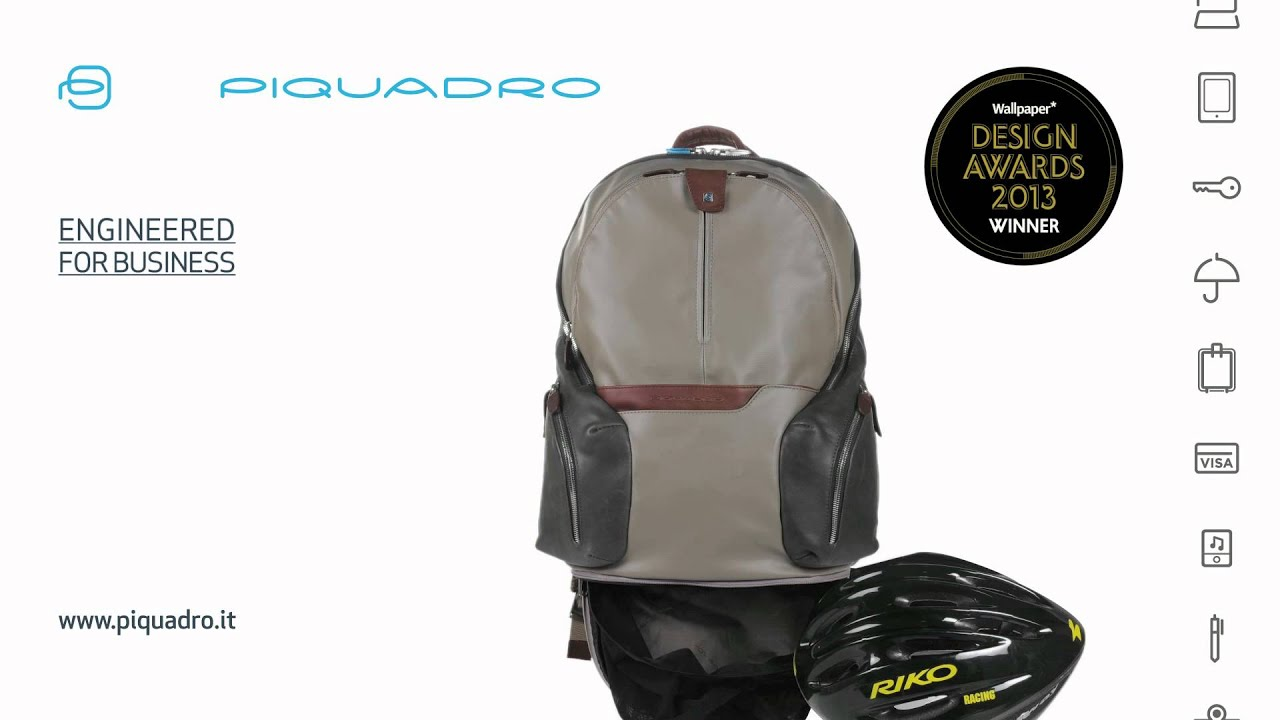 def95efa62 Piquadro, winner of the Wallpaper Design Awards 2013 with the Coleos  backpack