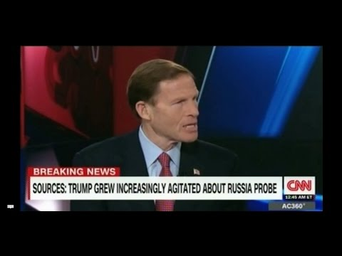 Sen Richard Blumenthal says Trump's behaviour may lead to impeachment proceedings Nixon referenced