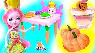 #ТЫКВЫ СВОИМИ РУКАМИ! Играем в Куклы Enchantimals Dolls Toys Sets Play Мультик + Распаковка for kids