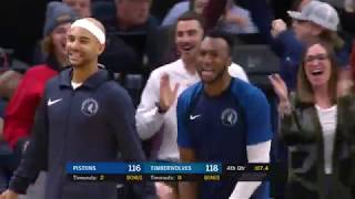 Robert Covington CLUTCH Shot, Drummond TIES the Game | Pistons vs Timberwolves - Dec 19, 2018