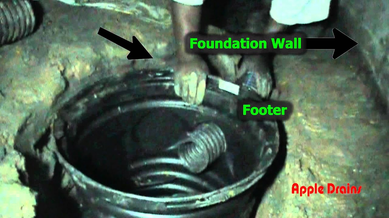 Sump Pump Install In Crawl Space By Apple Drains