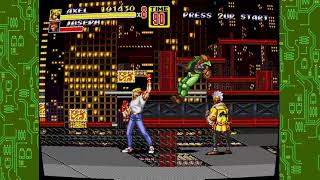 Streets of rage 2 axel stone raging off enemies stage 2 the bridge gameplay xbox 360