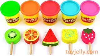 Learn Colors with Baby Toy Ice Cream Play Doh Popsicles for Toddlers Children Kinder Sursrise Eggs
