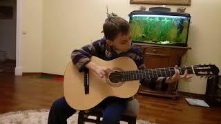 Игра на гитаре,новички. Первый месяц обучения.