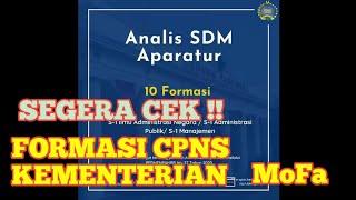Formasi CPNS 2021 Kementerian Luar Negeri