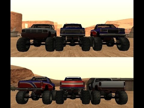 GTA San Andreas IOS : How To Get Monster Truck And Hotring Car