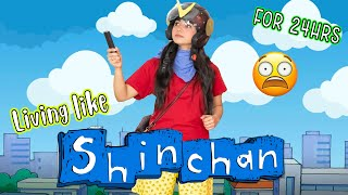 Living like SHINCHAN for 24 hours|* ye kya karwa dia mujhse 😱*