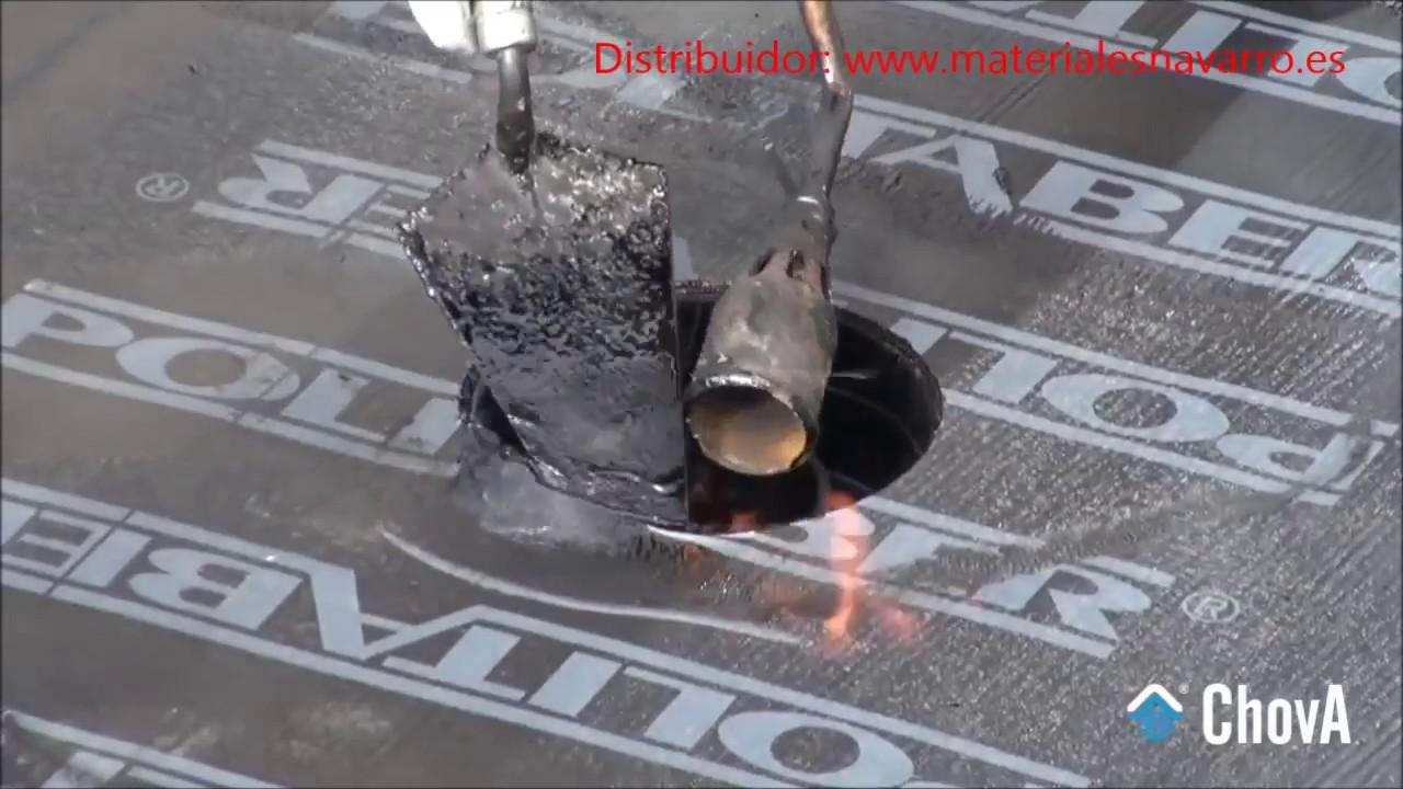 COLOCACION SUMIDERO TERRAZA EPDM  YouTube