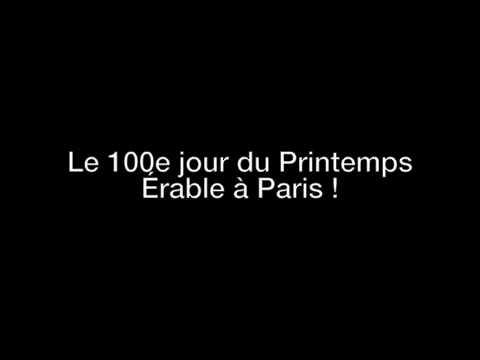 Vive le Québec Libre ! 100e jour du Printemps Érable à Paris (Reportage Radiophonique)