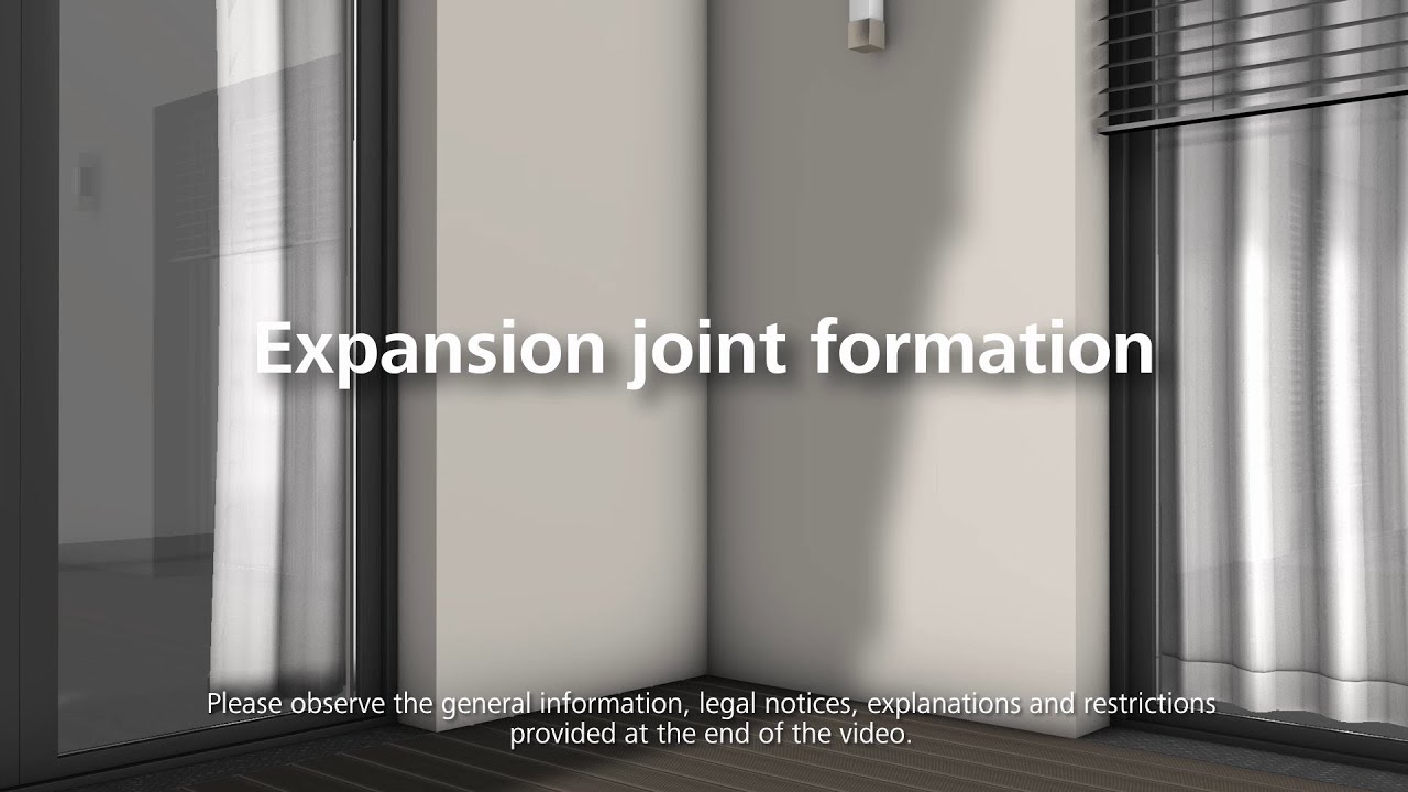 How to install expansion joint profiles and