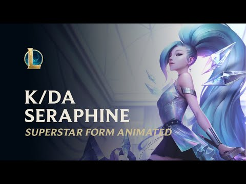 K/DA ALL OUT Seraphine Superstar Animated Splash Art | Music Theme - League of legends