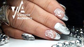 Зимний Дизайн Ногтей Фольгой | Коррекция Полигелем | ТОП удивителные дизайны ногтей