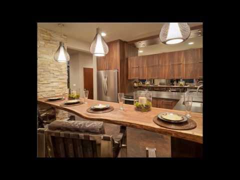 Diseños de Cocina americana rustica - YouTube