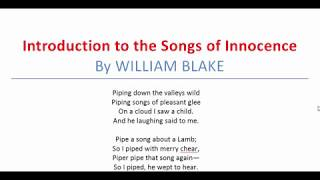 Introduction to the Songs of Innocence By WILLIAM BLAKE | অনার্স ২য় বর্ষ, বাংলা | Romantic Poetry